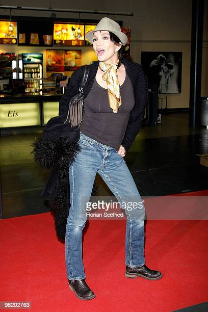 Actress Anouschka Renzi attends the premiere of 'Waffenstillstand' at cinema Kulturbrauerei on April 1 2010 in Berlin Germany