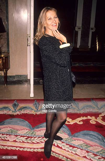 Actress Anouska Hempel attends Fashion Group International's Seventh Annual 'Night of Stars' Gala on October 28 1990 at the Plaza Hotel in New York...