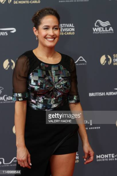 US actress ans dancer Jaina Lee Ortiz poses for a photocall during the 59th MonteCarlo Television Festival in Monaco on June 14 2019