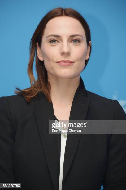 Actress Antje Traue attends the 'Bye Bye Germany' photo call during the 67th Berlinale International Film Festival Berlin at Grand Hyatt Hotel on...