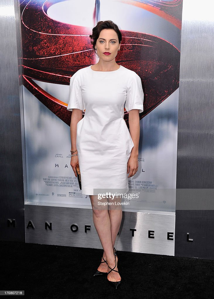 Actress Antje Traue attends the 'Man Of Steel' world premiere at Alice Tully Hall at Lincoln Center on June 10, 2013 in New York City.