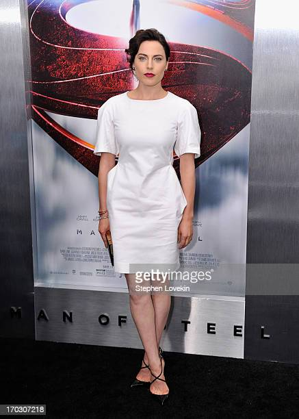 "Actress Antje Traue attends the ""Man Of Steel"" world premiere at Alice Tully Hall at Lincoln Center on June 10, 2013 in New York City."