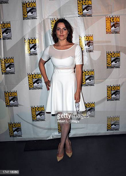 "Actress Antje Traue attends the Warner Bros. And Legendary Pictures preview of ""Seventh Son"" during Comic-Con International 2013 at San Diego..."