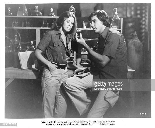 Actress Antoinette Bower and actor Craig Littler in a scene from the Scifi movie 'Superbeast' circa 1972