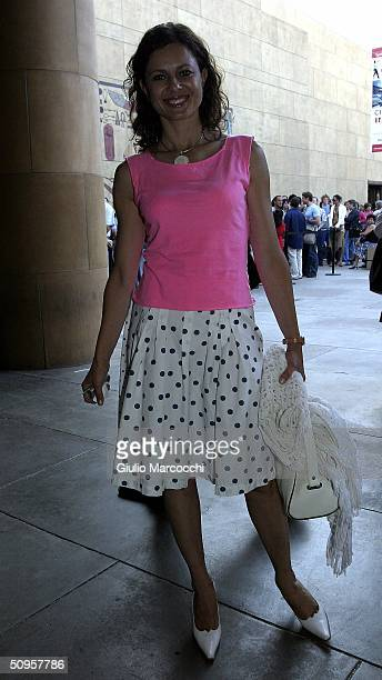 Actress Antonella Elia arrives at the Don't Move screening as part of the Cinema Italian Style festival at the Egyptian Theatre on June 13 2004 in...