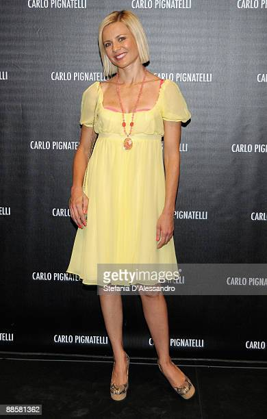 Actress Antonella Elia attends Carlo Pignatelli Cerimonia Fashion Show during Milan Fashion Week Menswear Spring/Summer 2010 on June 19 2009 in Milan...