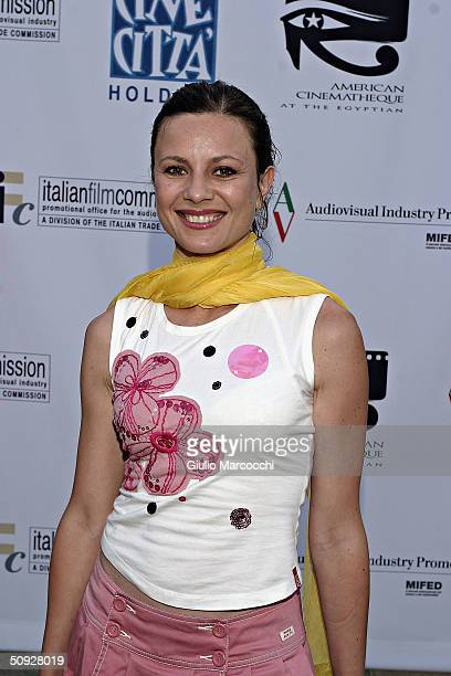 Actress Antonella Elia attends Cinema Italian Style New Films From Italy on June 4 2004 at the Egyptian Theatre in Hollywood California