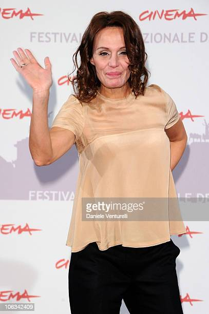 Actress Antonella Ponziani attends the 'La Scuola E Finita' Photocall during the 5th International Rome Film Festival at the Auditorium Parco Della...