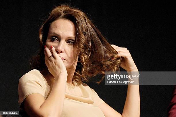 Actress Antonella Ponziani attends the 'La Scuola E Finita' press conference during the 5th International Rome Film Festival at the Auditorium Parco...
