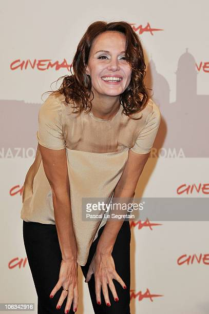 Actress Antonella Ponziani poses at the 'La Scuola E Finita' Photocall during the 5th International Rome Film Festival at the Auditorium Parco Della...