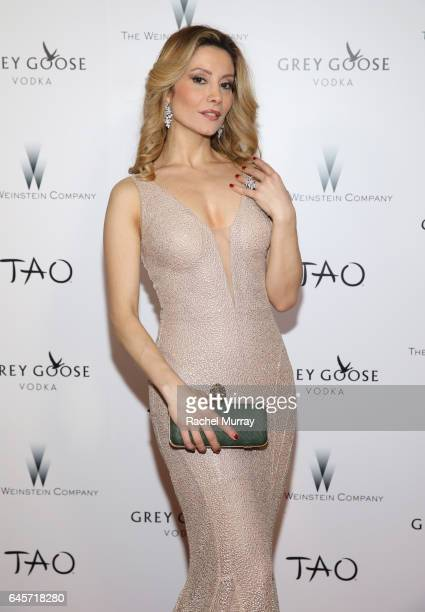 Actress Antonella Salvucci attends The Weinstein Company's Academy Awards viewing and after party in partnership with Grey Goose at TAO Los Angeles...
