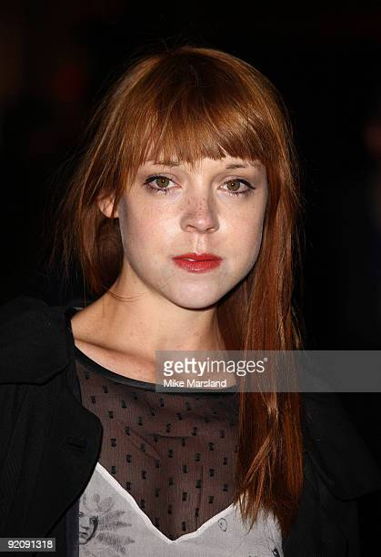 Actress Antonia CampbellHughes attends the Gala screening of 'An Education' during The Times BFI London Film Festival at Vue West End on October 20...
