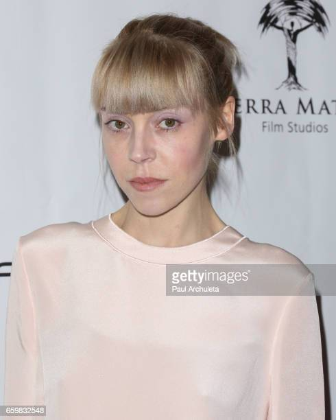 Actress Antonia CampbellHughes attends the premiere for 'MindGamers One Thousand Minds Connected Live' at Regal LA Live Stadium 14 on March 28 2017...