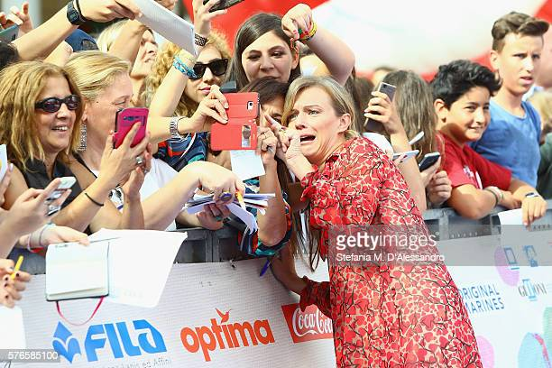 Actress Antonia Liskova attends Giffoni Film Festival day 2 blue carpet on July 16 2016 in Giffoni Valle Piana Italy