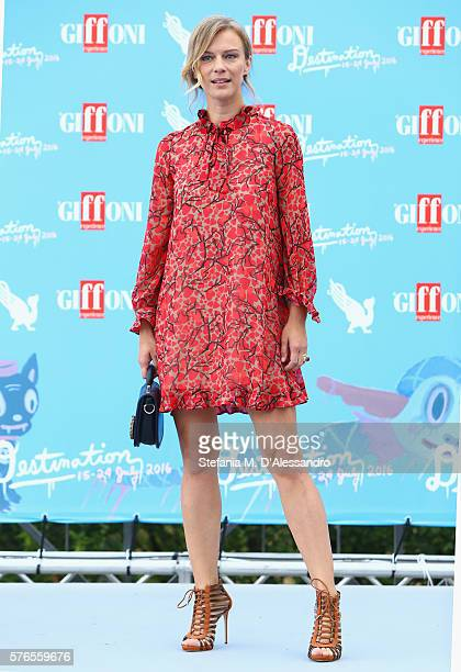 Actress Antonia Liskova attends Giffoni Film Festival day 2 photocall on July 16 2016 in Giffoni Valle Piana Italy