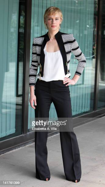 Actress Antonia Liskova attends 'Mai Per Amore' TV serie photocall at Rai Viale Mazzini on March 23 2012 in Rome Italy