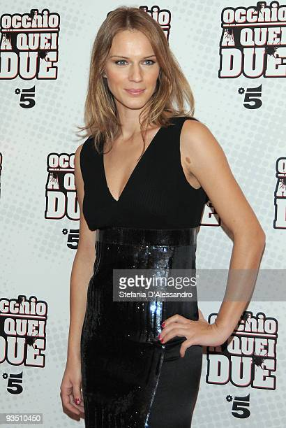 Actress Antonia Liskova attends 'Occhio A Quei Due' Premiere held at Apollo Cinema on November 30 2009 in Milan Italy
