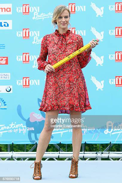 Actress Antonia Liskova attends the Giffoni Film Festival photocall on July 16 2016 in Giffoni Valle Piana Italy
