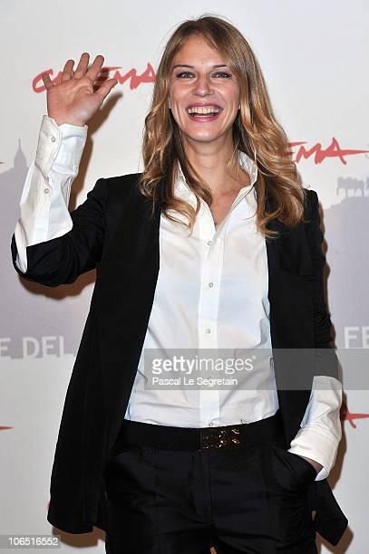 Actress Antonia Liskova attends the Le Cose Che Restano Photocall during the 5th International Rome Film Festival at the Auditorium Parco Della...