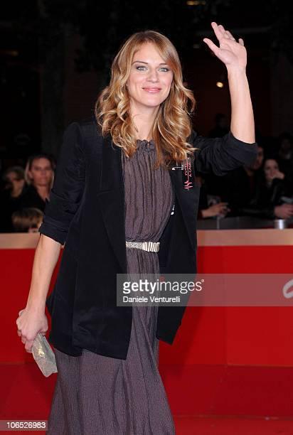 Actress Antonia Liskova attends the Le Cose Che Restano Premiere during the 5th International Rome Film Festival at the Auditorium Parco Della Musica...