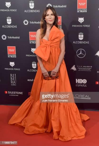 Actress Antonia San Juan attends Feroz awards 2020 red carpet at Teatro Auditorio Ciudad de Alcobendas on January 16 2020 in Madrid Spain