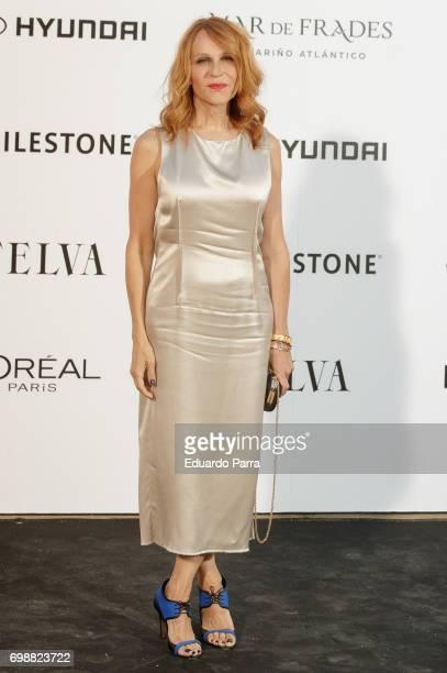 Actress Antonia San Juan attends the 'La Moda en la calle by Telva' event at Las Ventas bullring on June 20 2017 in Madrid Spain