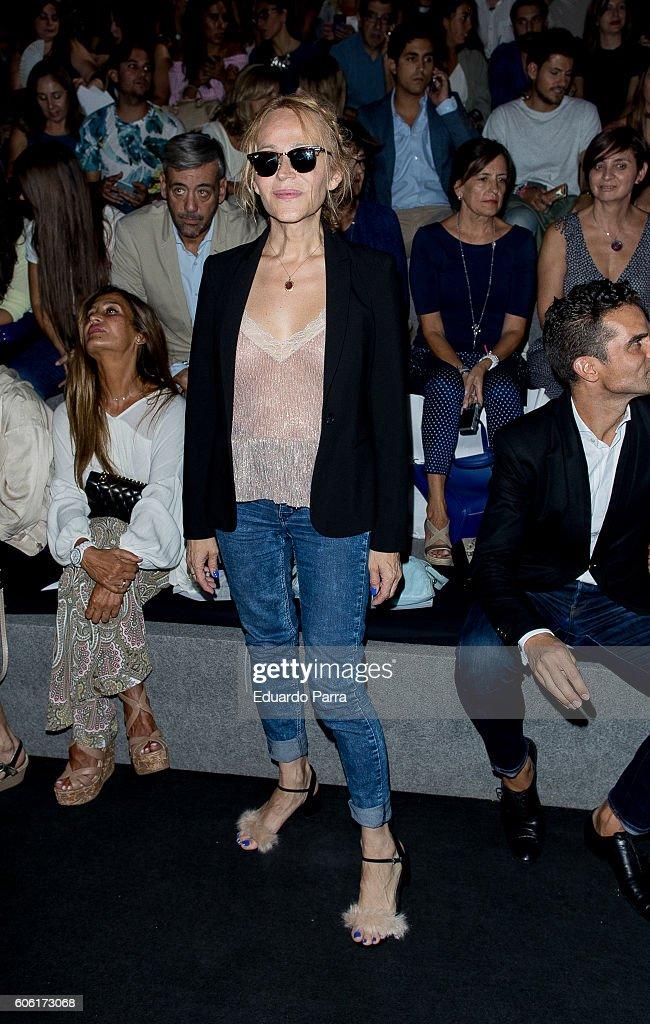 Actress Antonia San Juan Is Seen Attending MercedesBenz Fashion Week Madrid  Spring/Summer 2017 At