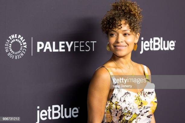 Actress Antonia Thomas attends the 2018 PaleyFest Los Angeles ABC's 'The Good Doctor' at Dolby Theatre on March 22 2018 in Hollywood California