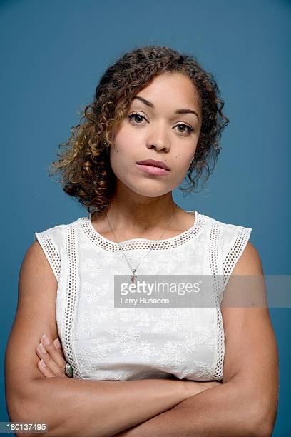 Actress Antonia Thomas of 'Sunshine On Leith' poses at the Guess Portrait Studio during 2013 Toronto International Film Festival on September 9 2013...