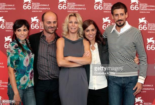 Actress Antonia Truppo actor Giovanni Ludeno actress Margherita Buy director Francesca Comencini and actor Gaetano Di Vaio attend the Lo Spazio...
