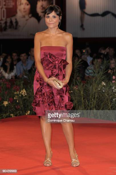 Actress Antonia Truppo attends the 'Lo Spazio Bianco' Premiere at the Sala Grande during the 66th Venice Film Festival on September 8 2009 in Venice...