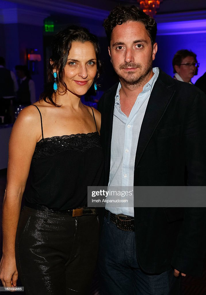 Actress Antonia Zegers (L) and director Pablo Larrain attend the Sony Pictures Classics Pre-Oscar Dinner at The London Hotel on February 23, 2013 in West Hollywood, California.