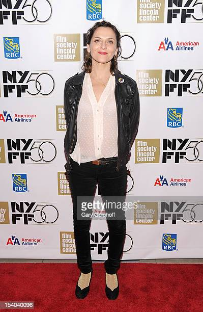 Actress Antonia Zegers attends the 50th New York Film Festival screening of 'No' at Alice Tully Hall at Lincoln Center on October 12 2012 in New York...