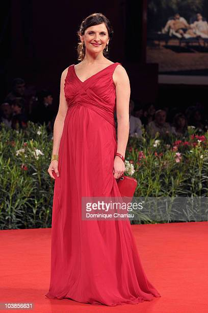 Actress Antonia Zegers attends the 'Post Mortem' premiere at the Palazzo del Cinema during the 67th Venice International Film Festival on September 5...