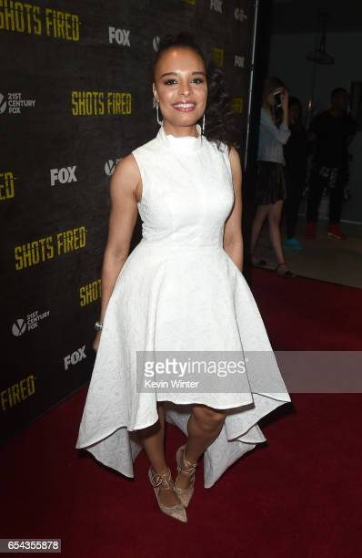 Actress Antonique Smith arrives at a screening and QA for FOX TV's 'Shots Fired' at the Pacific Design Center on March 16 2017 in West Hollywood...