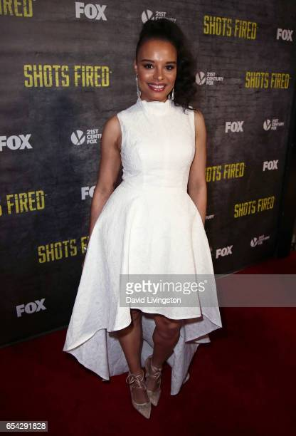 Actress Antonique Smith attends a screening and discussion of FOX's 'Shots Fired' at Pacific Design Center on March 16 2017 in West Hollywood...