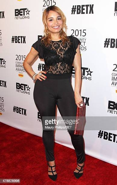 Actress Antonique Smith attends the 2015 Community Impact Awards presented by Dennys during the 2015 BET Experience at the Conga Room on June 27 2015...