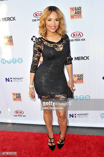 Actress Antonique Smith attends the Black AIDS Institute 2015 Heroes in the Struggle Reception Gala and Awards Ceremony at Directors Guild Of America...