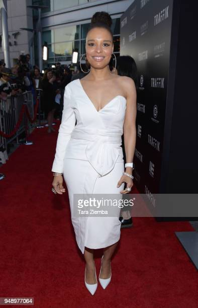 Actress Antonique Smith attends the premiere of Codeblack Films' 'Traffik' at ArcLight Hollywood on April 19 2018 in Hollywood California