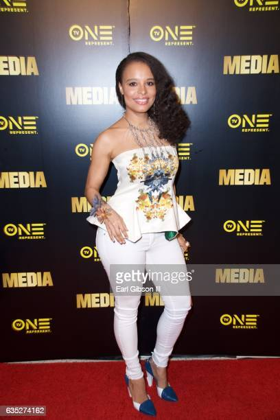 Actress Antonique Smith attends the Premiere Of TV One's 'Media' at Pacific Design Center on February 13 2017 in West Hollywood California