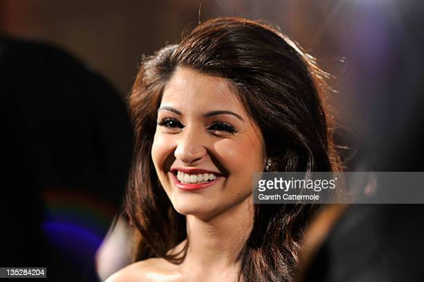 Actress Anushka Sharma attends the 'Ladies vs Ricky Bahl' premiere during day two of the 8th Annual Dubai International Film Festival held at the...