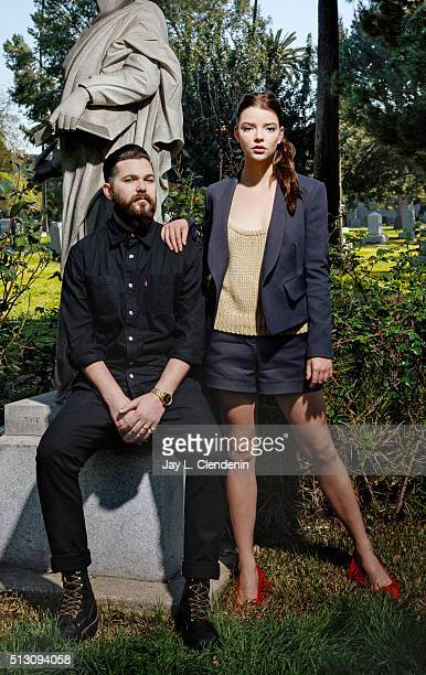 Actress Anya Taylor Joy and director Robert Eggers of The Witch' are photographed for Los Angeles Times on February 12 2016 in Los Angeles California...