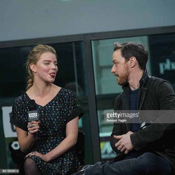Actress Anya Taylor-Joy and James McAvoy attend the Build series at Build Studio on January 18, 2017 in New York City.