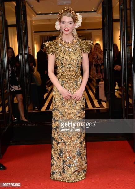 Actress Anya Taylor-Joy attends as The Mark Hotel celebrates the 2018 Met Gala at The Mark Hotel on May 7, 2018 in New York City.