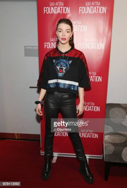 Actress Anya TaylorJoy attends SAGAFTRA Foundation Conversations 'Thoroughbreds' at The Robin Williams Center on March 8 2018 in New York City
