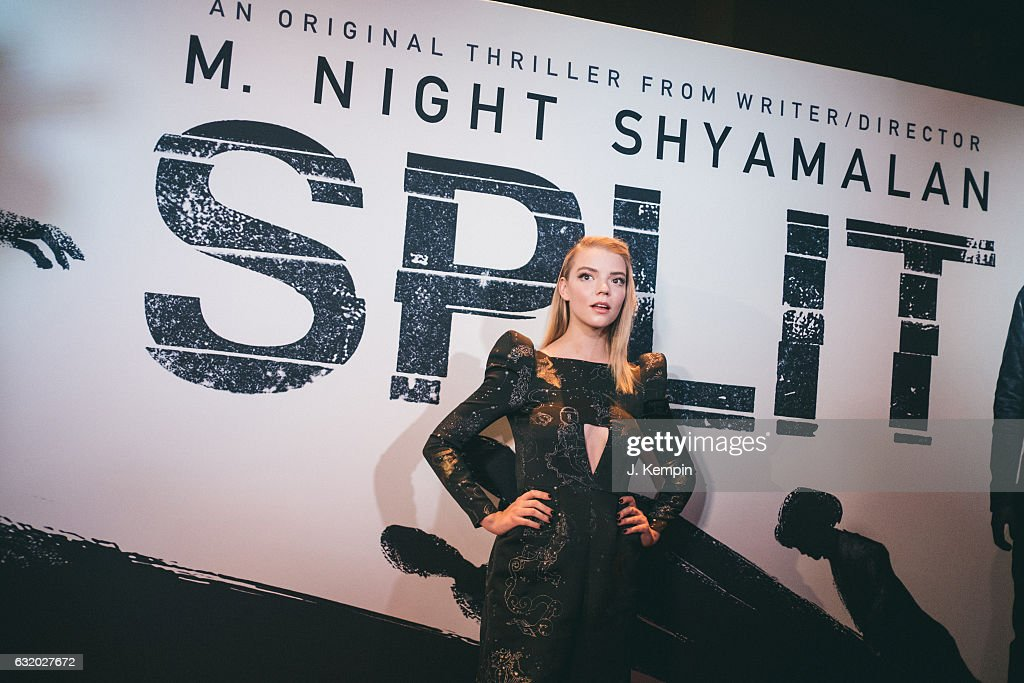 Actress Anya Taylor-Joy attends the premiere of Split at SVA Theater on January 18, 2017 in New York City.