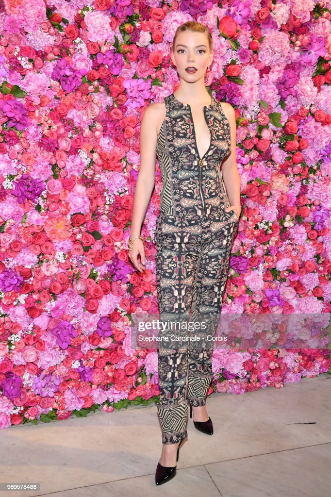 Actress Anya Taylor-Joy attends the Schiaparelli Haute Couture Fall/Winter 2018-2019 show as part of Haute Couture Paris Fashion Week on July 2, 2018 in Paris, France.