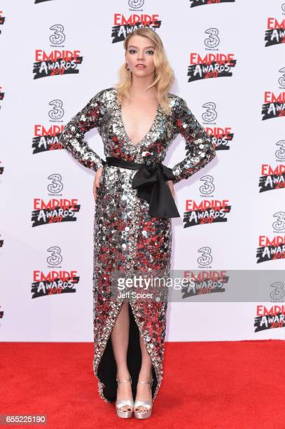 Actress Anya TaylorJoy attends the THREE Empire awards at The Roundhouse on March 19 2017 in London England