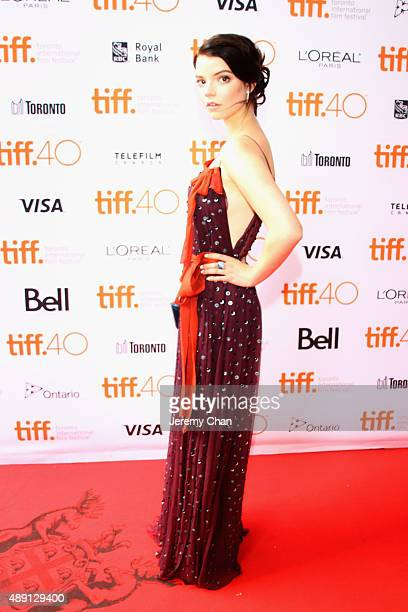 Actress Anya TaylorJoy attends 'The Witch' premiere during the 2015 Toronto International Film Festival held at Ryerson Theatre on September 18 2015...