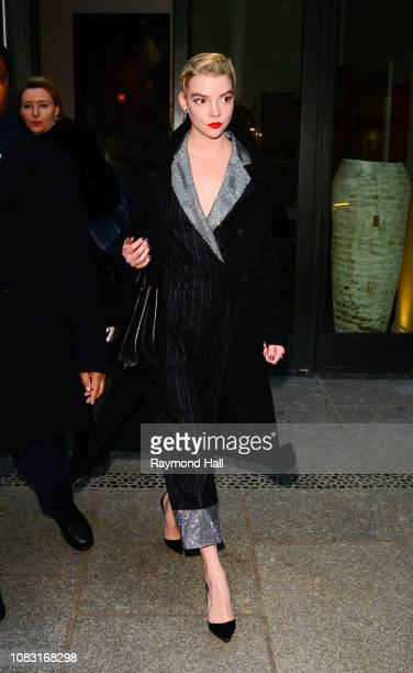 Actress Anya Taylor-Joy is seen in Soho on January 15, 2019 in New York City.